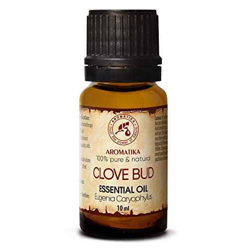Aceite de Clavo 10ml - Eugenia Caryophyllus - Indonesia - 100% Natural & Puro - Para el Bienestar - Belleza - Aromaterapia - Difusor - Difusor Aromático - Lámpara de Aroma - Clove Bud Essential