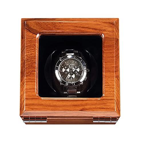 LSRRYD Reloj de madera con acabado de piano exterior y suave y flexible para reloj, caja automática, 3 espacios de bobinado (color negro, tamaño: 1+0)