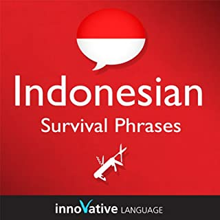 Learn Indonesian - Survival Phrases Indonesian, Volume 2: Lessons 31-60 audiobook cover art