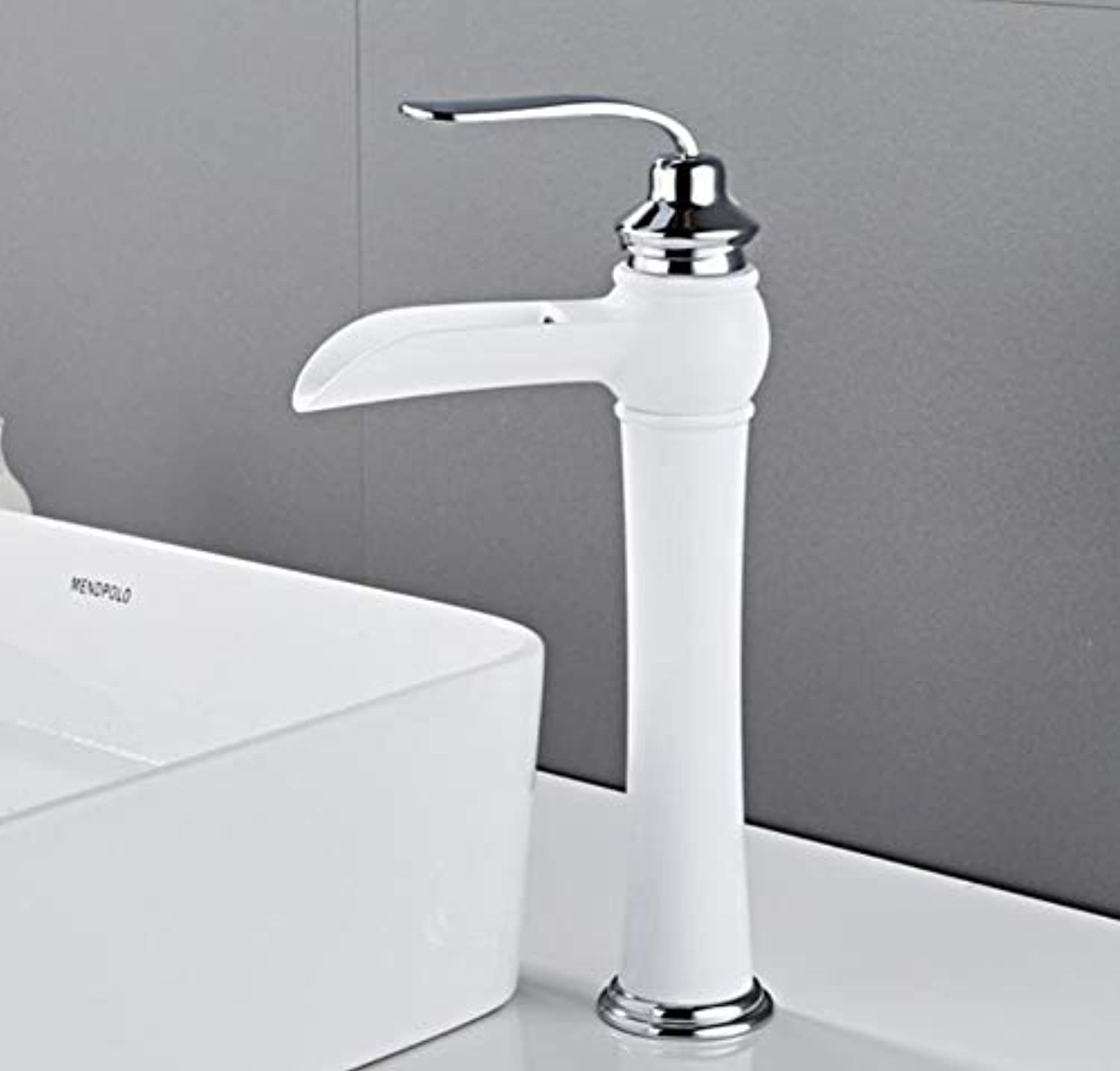 Wasserhahn Waschbecken Faucet Single Handle Waterfall Basin Mixer Tap Hot And Cold Bathroom Faucet Sink Waterfall Faucet