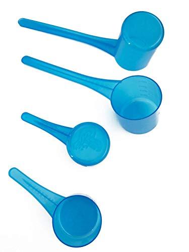 Weider Dosierlöffel, 4er Set, transparent blau