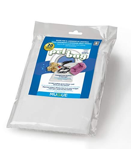 Mugue 28023.0 Pet Bag la Busta per Il Lavaggio in Lavatrice degli Accessori e Indumenti degli Amici a 4 Zampe 95 X 70 Cm, Bianco, L