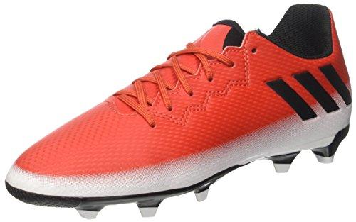 adidas Messi 16.3 FG J, Botas de fútbol para Niños, Rojo (Red C Ore Blackfootwear White), 34 EU