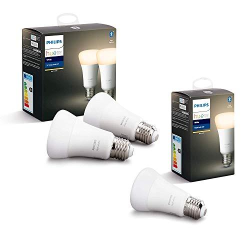Philips Hue 3 Ampoules LED Connectées White E27 Compatible Bluetooth, Fonctionne avec...
