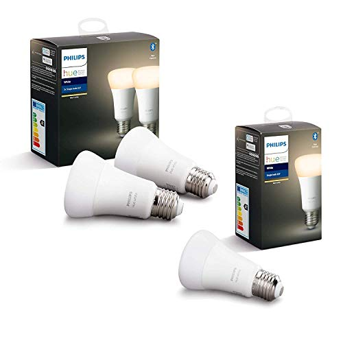 Philips Hue Ampoule LED Connectée White E27 Compatible Bluetooth, Fonctionne avec Alexa...