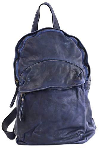 BZNA Bag Noah blau Backpacker Designer Rucksack Damenhandtasche Schultertasche Leder Nappa ItalyNeu