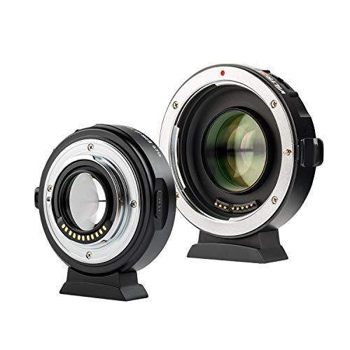 VILTROX EF-M2 II Adaptateur de Vitesse pour Objectif Canon EF Mount Series vers M43 GH4 GH5 GF6 GF1 GX1 GX7 E-M5 E-M10 E-PL5