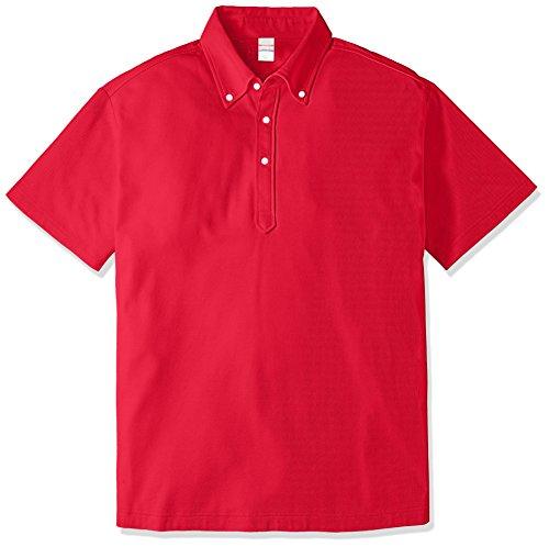 (ユナイテッドアスレ)UnitedAthle 5.3オンス ドライカノコ ユーティリティー ポロシャツ(ボタンダウン) 505201 [メンズ] 069 レッド M