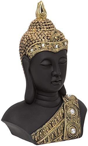 Maturi Testa di Buddha Dettaglio Diamante, Oro, 27cm / 10.5-inch