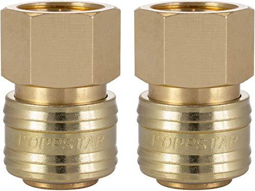 Poppstar 2x Schnellkupplung Druckluft NW 7,2 mit 1/2 Zoll Innengewinde für Druckluft-Anschluss