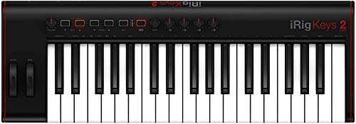 IK Multimedia iRig Keys 2 Pro - Universell einsatzbares MIDI Keyboard für iOS/Android, MAC und PC, schwarz