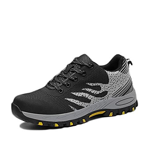 Zapatos de Seguridad Hombre - Zapatillas de Trabajo con Punta de Acero Ligeros Calzado de Industrial y Deportivos Transpirables Anti-Piercing Zapatos de Trabajo