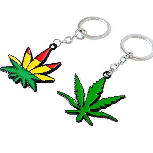 マリファナの葉キーホルダー大麻雑草キーリング