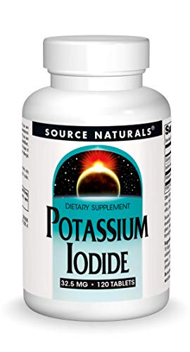 120 tabletas de yoduro de potasio de Source Naturals, 32.5mg