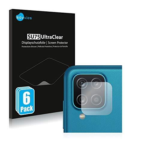 savvies Protector Pantalla Compatible con Samsung Galaxy A12 (SÓLO Cámara)