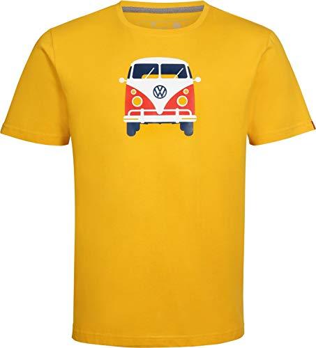 Elkline Herren Methusalem mit VW Bulli Print T-Shirt, goldenyellow, M