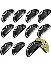 WYZEメガネ鼻パッド メガネずれ落ち防止 3M両面テープノーズパッド メガネシリコン 眼鏡鼻パッド6ペア12個 メガネ跡防止 痛み防止 高さ調節 色素沈着予防に 交換 収納ケース付