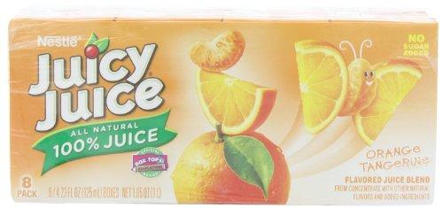 Juicy Juice 100% Juice, Orange Tangerine,8 count, 4.23-Ounce Boxes (Pack of 5)