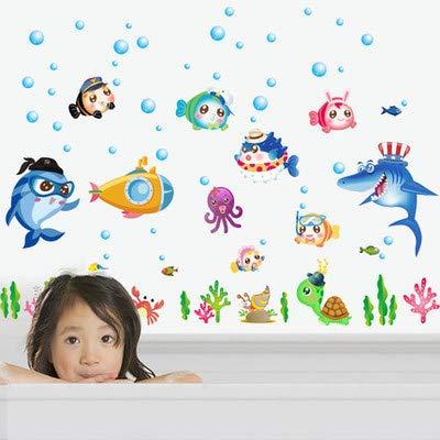 Natatorium Aufkleber, Mutter und Baby-Shop, Malerei, Ozeanarium, Wanddekoration Badezimmer, SK7070 Delphin einseitig 8,9, groß
