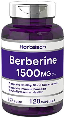 Berberine 1500mg | 120 Capsules | Non-GMO, Gluten Free | Berberine HCl Supplement | by Horbaach