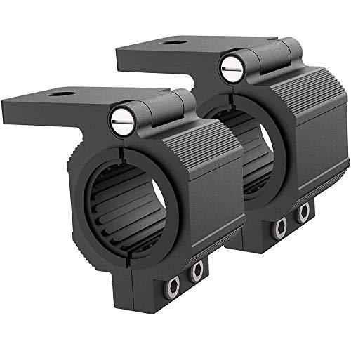 Audak 1 Pair Aluminum Mounting Bracket Kit Tube Clamp for 1.125 1.25 1.375 1.5 Inch Bullbar Roof Rack Roll Cage Horizontal Bar (1.125 to 1.5 Inch Adjustable)