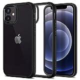 【Spigen】 iPhone 12 Mini ケース 5.4インチ 対応 背面 クリア 米軍MIL規格取得 耐衝撃 すり傷防止 ワイヤレス充電対応 アイフォン12 ケース アイフォン12ミニケース カバー シュピゲン ウルトラ・ハイブリッド (マット・ブラック)