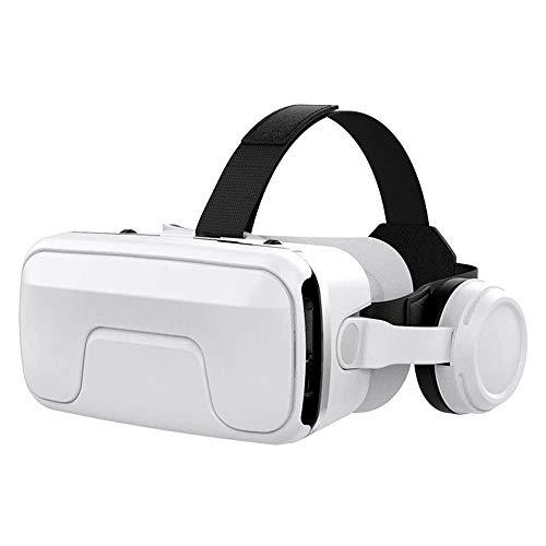 Gafas de Realidad Virtual con Auriculares, 3D VR con Auriculares Incorporados, Visión de 360 Grados, FOV Botón, Multifunción para Los Móviles de Pantalla 4.7-6.0 Pulgadas