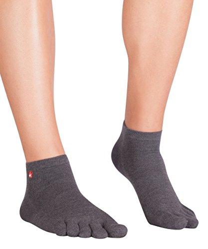 Knitido Track & Trail Ultralite Fresh Zehensocken-Sneaker Unisex, Größe:43-46, Farbe:Anthrazit (642)