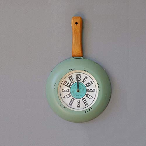 Wall Clock, Retro Iron Art Boutique Pan Klokken Personaty Muur Kijk Western Restaurant Cafe Opknoping Horloge alarm clock