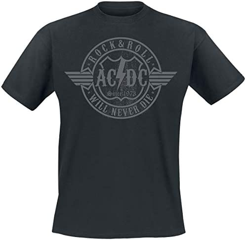 AC/DC Rock & Roll - Will Never Die Camiseta Negro