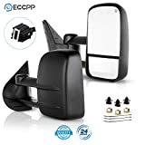 ECCPP Towing Mirror Replacement fit for 2007-2013 for Chevy GMC Silverado Sierra (Just 07 New-Body Style) Power Heated Side Pair Mirrors