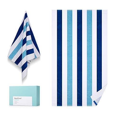 WIIKWEEK 100% Cotton Beach Towel for Travel. Stripe Towel Quick Dry Large Pool/Swim/Bath Towel for Adults(30' x 60')…