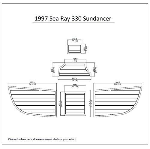 JZ 1997 Sea Ray 330 Sundancer Swim Platform Pad 1/4' 6mm Boat EVA Teak Decking