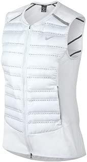 NIKE Aeroloft Women's Running Vest (Pure Platinum/Black/Metallic Silver, Large)