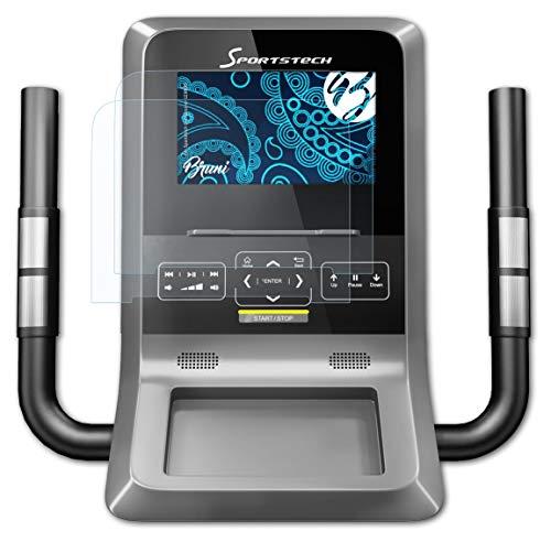 Bruni Schutzfolie kompatibel mit Sportstech Crosstrainer LCX800 Folie, glasklare Displayschutzfolie (2X)