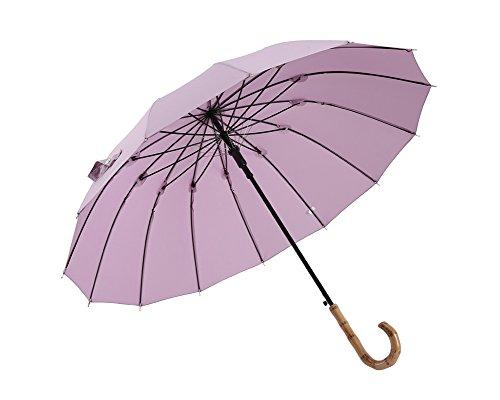 ZHDC® Parapluies à long manche, Commerce Automatique Anti-UV Coupe-Vent Protection Solaire Pluie Parapluie parasol ( Couleur : Violet )