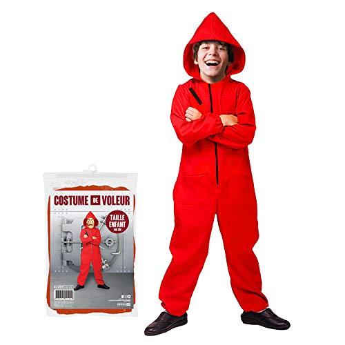 Original Cup - Disfraz de CASA Papel para niños - Disfraz de Papel CASA - Niño de Menos de 140 cm - Sudadera roja, Vestido de Noche, Noche temática