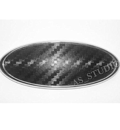 2x 150x60mm Emblem Pflaume Folie (126x48mm) Carbon schwarz