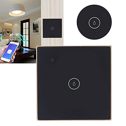 needlid Interruptor de luz, ABS + Aleación de Zinc Interruptor de luz de Seguridad Wi-Fi Fácil de Instalar Control Remoto Wi-Fi para Oficina para el hogar