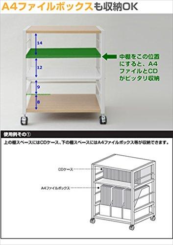 山善『デスクサイドワゴン(NNGS-3R)』