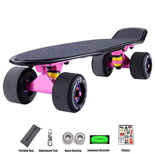 22 Inch Kids Skateboard 4 Wielen Kick Skateboard met esdoorndek Frosted Concave Skate Board for Boys Girls Beginners Outdoors Skateboards