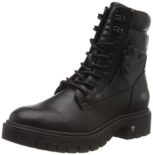 Dockers by Gerli 45ab306, Botas Militar para Mujer, Negro (Schwarz 100), 41 EU