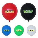 glückspakete Ninja Ballons Kindergeburtstag Deko wahlweise 5-100Stück (10 Stück)