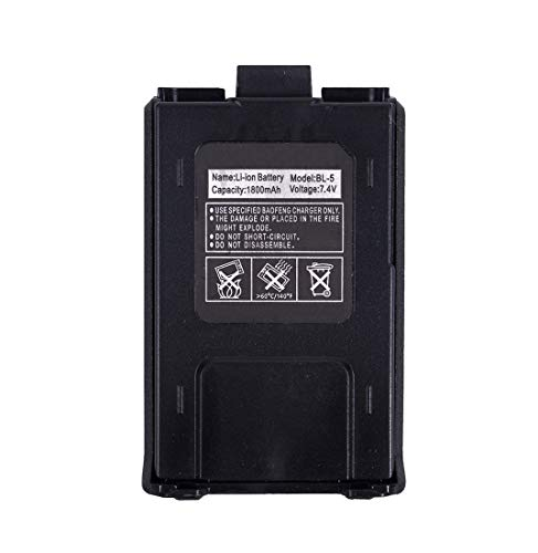 Mengshen Original UV-5R Batterie Compatible for Baofeng UV-5R UV-5RE RT 5R/RT 5RV Two Way Radio Walkie Talkie Funkgeräte UV-5R_C3