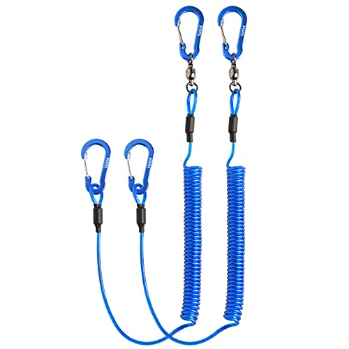 Booms Fishing T02 Heavy Duty Coil Lanyard for Kayak Paddles/Rods