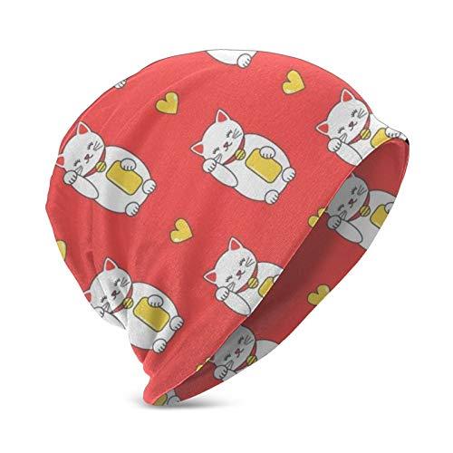 Pillow Socks Gorra de diseo de Maneki Neko con diseo de dibujos animados para nios y nias de 3 a 15 aos.