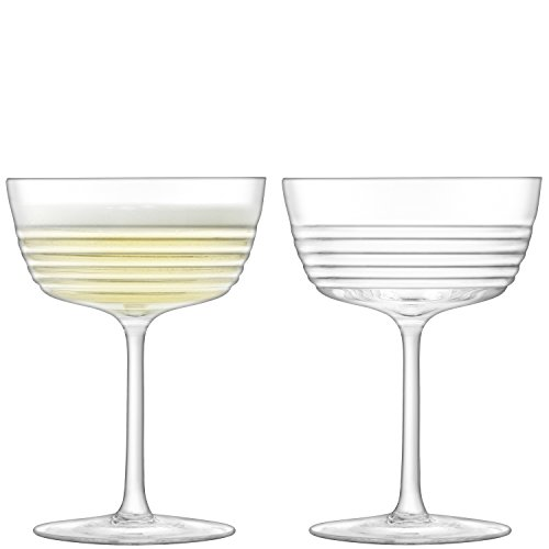LSA International G1491–09–171 Groove Champagne/verre à cocktail 265 ml X 2 Clair,