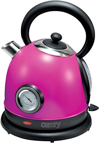Camry CR 1252V Elektrischer Wasserkocher aus Metall, 1,8 Liter, Violett