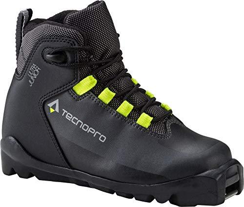 TECNOPRO Kinder Ultra Skilanglaufschuhe, schwarz/Grau/Gelb, 5
