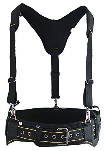 MELOTOUGH Padded Tool Belt with handle strap Construction Work Belt with D ring to hook with Tool Belt Suspenders(Tool Belt Suspenders not Included)